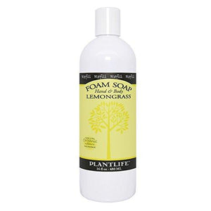 Lemongrass Hand & Body Foam Soap - 16oz Refill