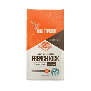 Bulletproof Coffee,French Kick,Groun 12 Oz (Pack Of 6)
