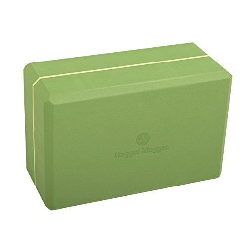 Hugger Mugger 4 in. Foam Yoga Block (Green) Accessory Hugger Mugger