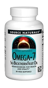 Source Naturals Omega-7 Sea Buckhorn Fruit Oil Vegan - 30 VegiGels
