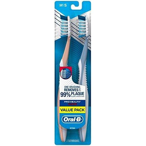 Oral-B Pro-Health All-in-One Manual Toothbrush, Soft, 2 ct, Value Pack