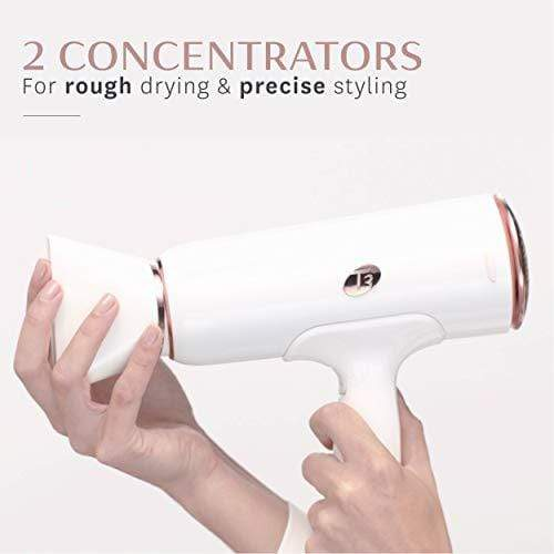 T3 - Cura Hair Dryer | Digital Ionic Professional Blow Dryer | Fast Drying, Volumizing Wide Air Flow | Frizz Smoothing | Multiple Speed and Heat Settings | Cool Shot