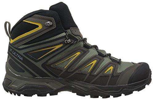 Salomon Men's X Ultra 3 MID GTX Trail Running Shoe, Castor Gray, 9 M US