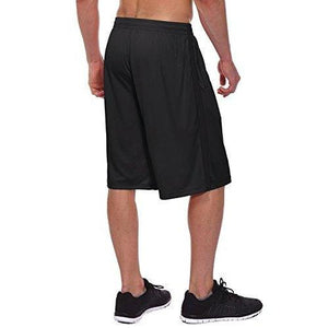 Baleaf Men's Athletic Basketball/Training Shorts with Zipper Pockets Black Size M