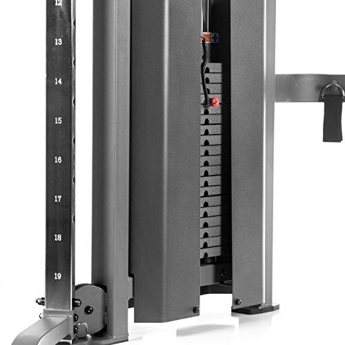 Functional Trainer Cable Machine with Dual 200 lb Weight Stacks, 19 Adjustments, and Accessory Package Sport & Recreation XMark Fitness