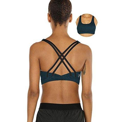 Workout Sports Bras for Women - Strappy Sports Bra Padded for Yoga, Running, Fitness Activewear icyzone