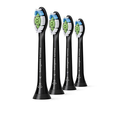 Philips Sonicare DiamondClean replacement toothbrush heads, HX6064/95, BrushSync technology, Black 4-pk