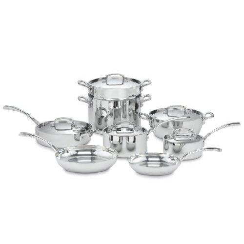 Cuisinart FCT-13 French Classic Tri-Ply Stainless 13-Piece Cookware Set Kitchen & Dining Cuisinart