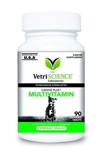 VetriScience Laboratories Canine Plus MultiVitamin for Dogs, 90 Chewable Tablets