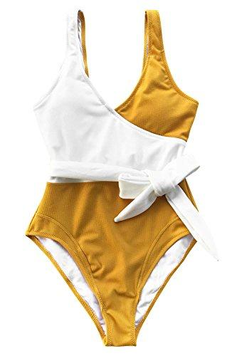 CUPSHE Women's Lily Bud Tank Bikini Set Beach Swimwear Bathing Suit