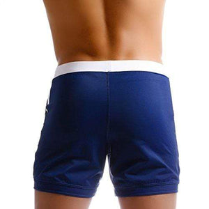 Taddlee Men Swimwear Swimsuits Solid Basic Long Swim Boxer Trunks Board Shorts (M)