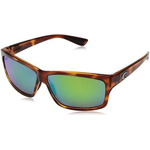 Costa del Mar Cut Polarized Iridium Square Sunglasses, Honey Tortoise, 60.6 mm