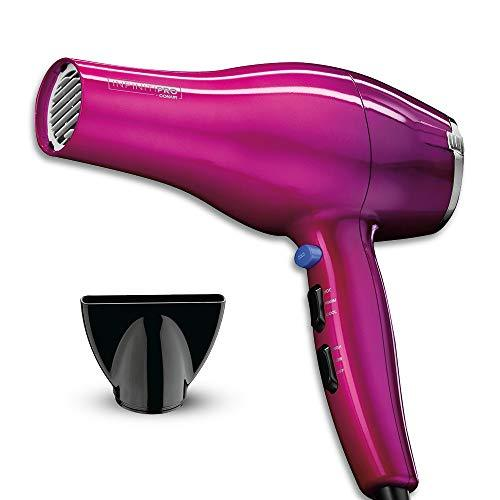 INFINITIPRO BY CONAIR 1875 Watt Salon Performance Hair Dryer/Styler, Full Size with AC Motor, Pink Ombre