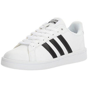adidas Women's Shoes | Cloudfoam Advantage Sneakers, White/Black/White, (9 M US)