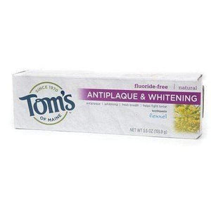 Toms of Maine Toothpaste Antiplaque Fluoride-Free Fennel 5.5 Ounce (Pack of 3)