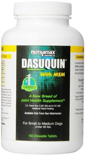 Nutramax Dasuquin with MSM Chewables, Small/Medium Dog, 150 Count Animal Wellness Nutramax