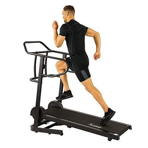 Sunny Health & Fitness Force Fitmill Manual Treadmill with 16 Levels of Magnetic Resistance, 300 LB Max Weight and Dual Flywheels - SF-T7723, Black
