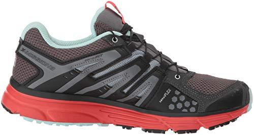 Salomon Women's X-Mission 3 W Trail Running Shoe, Magnet/Black/Poppy red, 9.5 B US