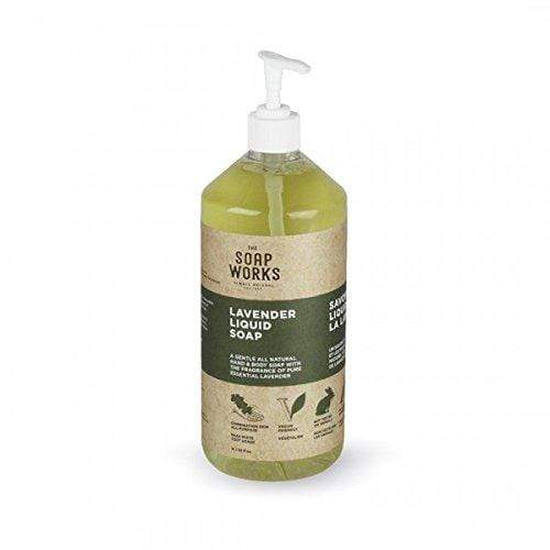 The Soap Works Lavender Liquid Soap-14 Oz