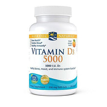Nordic Naturals Vitamin D3 5000 - Potent Dose of Vitamin D3 For Bone Health, Mood and Sleep Rhythm Support, and Immune System Function, Orange, 120 Soft Gels