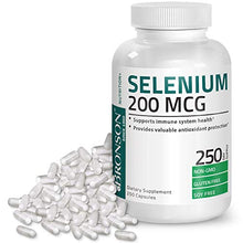 Bronson Selenium 200 Mcg for Thyroid, Prostate and Heart Health - Essential Trace Mineral with Superior Absorption, Non-GMO, Gluten Free, Soy Free, 250 Capsules