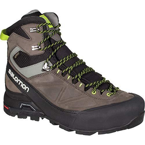 Salomon Men's X Alp MTN GTX Waterproof Snow Boots, Black, Leather, Cordura, 9.5 M