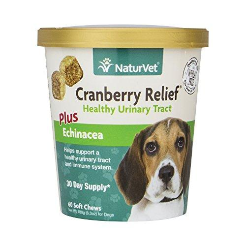 NaturVet Urinary Health Supplement Soft Chews for Dogs, Healthy Bladder & Urinary Tract Support with Cranberry & Echinacea, Made by