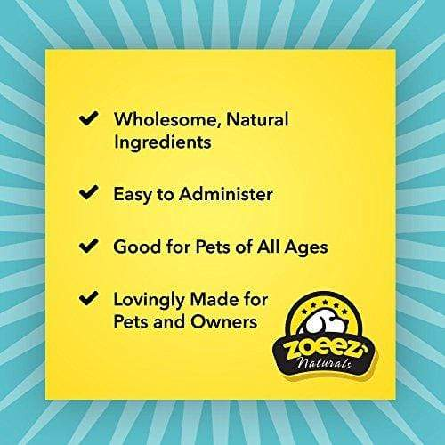Zoeez Naturals Total Wellness For Dogs: Daily Multivitamin Chews With Minerals and Antioxidants – Made Without Corn or Wheat (Duck Flavor), 60 Chewable Tablets Animal Wellness Zoeez Naturals