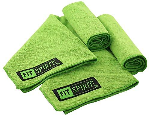 Fit Spirit Sport Towels, Super Absorbent Microfiber, Non Slip Skidless, Green Accessory Fit Spirit