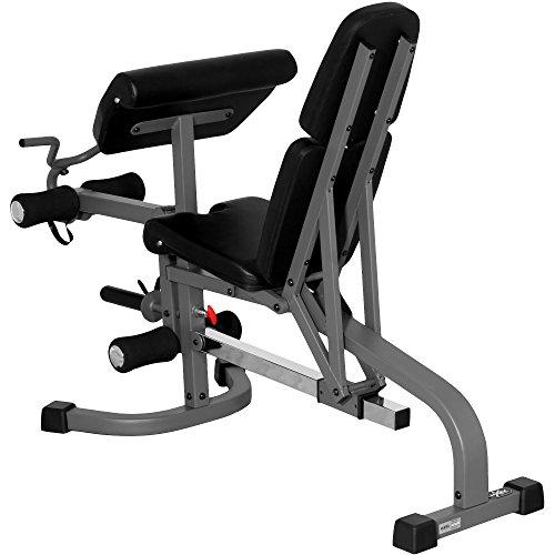Flat Incline Decline Weight Bench, Adjustable Bench, Decline to Full Military Press Position, Preacher Curl and Leg Extension Sport & Recreation XMark Fitness