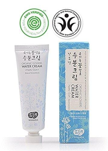 Whamisa Organic Flowers Water Cream 50ml - Naturally fermented, EWG Verified