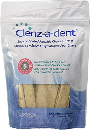 CEVA Animal Health CLE06130 Clenz-A-Dent 30 Count Rawhide Chews for Small Dogs Animal Wellness CEVA Animal Health