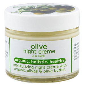 Made from Earth Olive Night Cream with Organic Olive Oil, Olive Butter and Vitamin E. 2 Oz