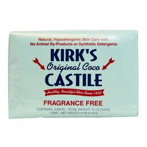 Kirk's Natural Soap Bar, Coco Castile, 4 Ounce by Kirk's Natural
