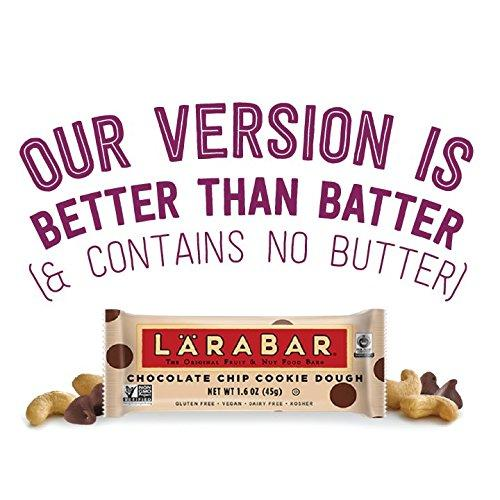 Larabar Gluten Free Bar, Chocolate Chip Cookie Dough, 1.6 oz Bars (16 Count) Food & Drink LÄRABAR