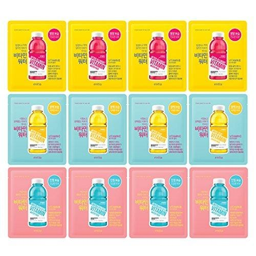 [ENTIA] Vitamin E, C, B Water Mask 30ml Pack of 12-3 Type Moisturizing Vitamin Facial Mask Sheet