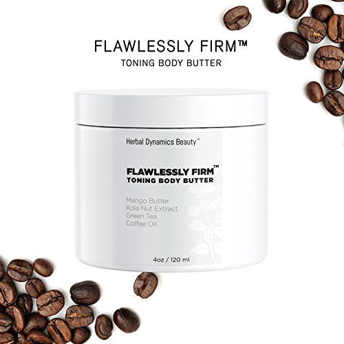 HD Beauty Flawlessly Firm Toning Body Butter with Mango Butter, Kola Nut Extract, Green Tea, Coffee Oil, Avocado Oil, and Vitamin E for Diminishing Appearance of Cellulite, 4.0 oz