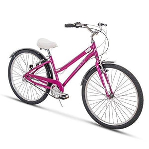 "Huffy Bicycle Company 76738 Hyde Park Women's 3-Speed Perfect Bike, Crushed Orchid, 27.5""/One Size"