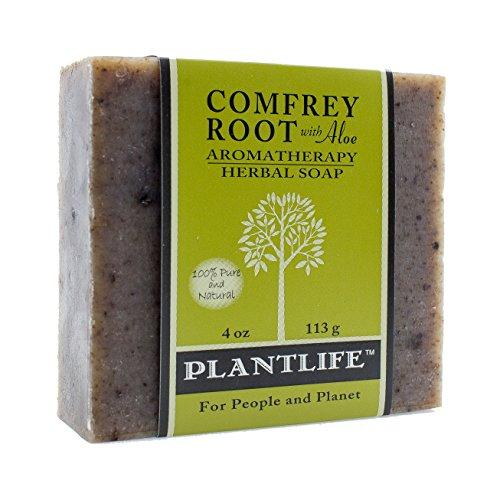 Plantlife Comfrey Root with Aloe 100% Pure and Natural Aromatherapy Herbal Soap - 4 oz (113g)