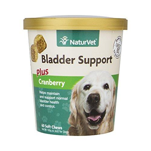 NaturVet Healthy Bladder Support Supplement for Dogs, Soft Chews with Cranberry, Healthy Bladder Control and Urination, Immune System Support, Made by Animal Wellness NaturVet
