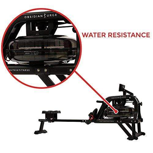 Sunny Health & Fitness Water Rowing Machine Rower w/LCD Monitor - Obsidian SF-RW5713 Sport & Recreation Sunny Health & Fitness
