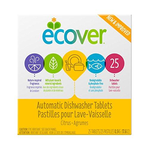 Ecover Automatic Dishwasher Soap Tablets, Citrus, 25 Count Dishwasher Detergent Ecover