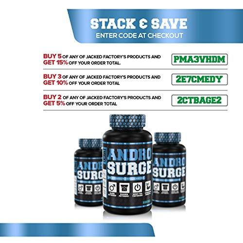 ANDROSURGE Estrogen Blocker for Men - Natural Anti-Estrogen, Testosterone Booster & Aromatase Inhibitor Supplement - Boost Muscle Growth & Fat Loss - DIM & 6 More Powerful Ingredients, 60 Veggie Pills Supplement Jacked Factory