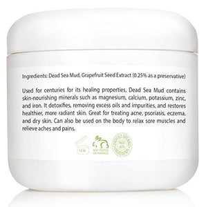 Amara Organics Dead Sea Mud Mask for Face & Body - Pure Mud with No Fillers Detoxifies & Restores Healthy Skin - 8 oz.