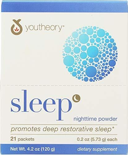 Youtheory (1 Item ONLY) Sleep Nighttime Powder 21 Packets
