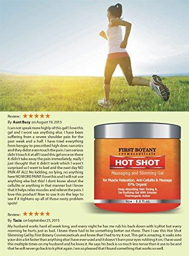 Hot Shot Slimming Gel and Massaging Gel 8.8 oz Great for Muscle Relaxation and Massage Best Anti Cellulite Cream & Muscle Rub Cream With Intense Thermogenic Action