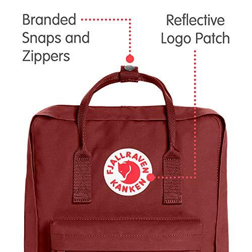 Fjallraven - Kanken Classic Pack, Heritage and Responsibility Since 1960, One Size,Ox Red