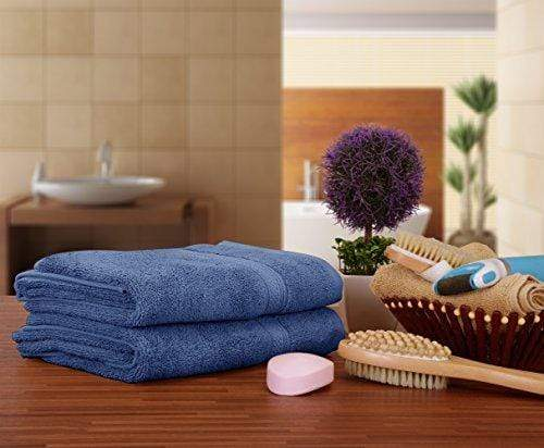 Utopia Towels 700 GSM Premium Towels Set - 4 Pack - Cotton for Hotel & Spa Maximum Softness and Absorbency (4 HAND TOWELS - ELECTRIC BLUE)