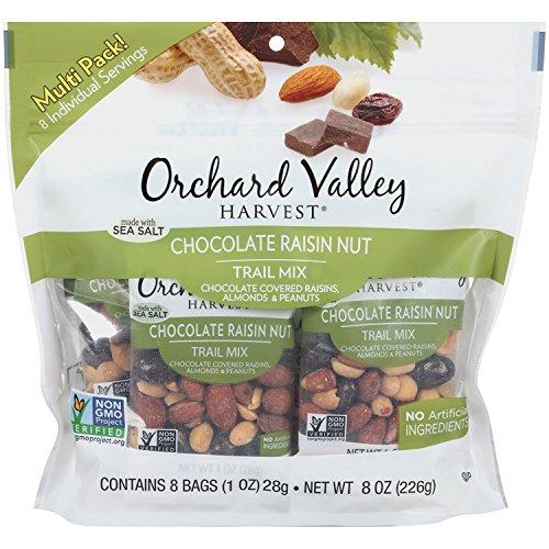 ORCHARD VALLEY HARVEST Chocolate Raisin Nut Trail Mix, 1 oz (8 Pack)