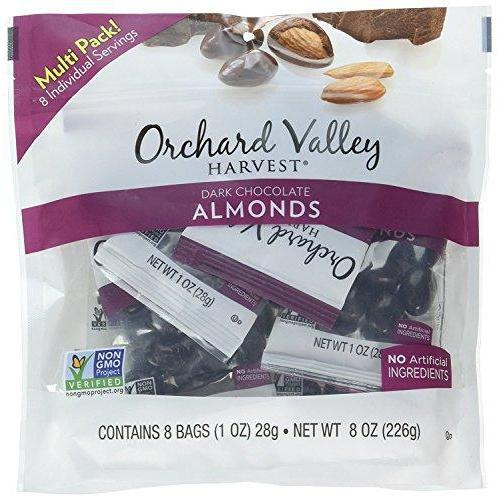 ORCHARD VALLEY HARVEST Dark Chocolate Almonds, 1 oz (Pack of 8) Food & Drink Orchard Valley Harvest